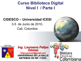 Presentacion_BDCOL - Biblioteca Digital