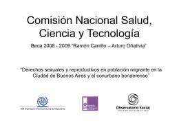 Comisión Nacional Salud, Ciencia y Tecnología