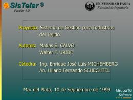 SISTELAR: Sistema de Gestión para Industria