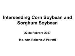 Intersiembras Maiz-Soja y Sorgo-Soja Campo Experimental Nidera