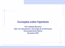 Prof. Adelaide Bianchini. Dpto. de Computación y Tecnología