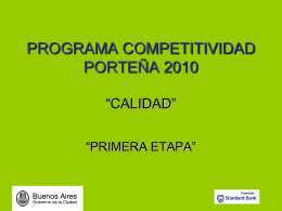 programa competitividad porteña 2009 calidad