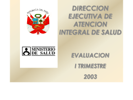 EVALUACION DEAIS - Ministerio de Salud