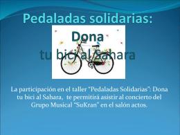 Pedaladas solidarias: Dona tu bici al Sahara