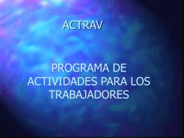 PROGRAMA DE ACTIVIDADES PARA LOS
