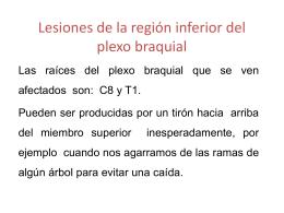 Lesiones de la región inferior del plexo braquial