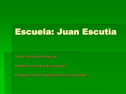 Escuela: Juan Escutìa