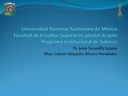 Experiencia de la FES Aragón - sistema institucional de tutoría