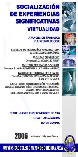 Diapositiva 1 - Universidad Colegio Mayor de Cundinamarca