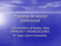 Programa de arancel preferencial