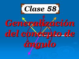 Clase 58: Generalización del Concepto de Ángulo