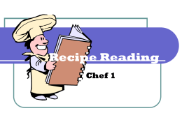Recipe Reading