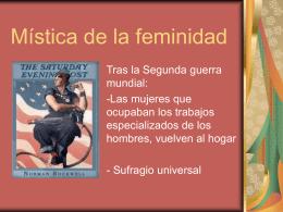 MÍSTICA DE LA FEMINIDAD (Sarita y Sergio)