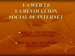 la web 2.0 la revolucion social de internet