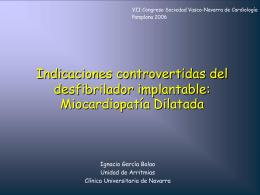 Miocardiopatía Dilatada - Sociedad Vasco Navarra de Cardiología