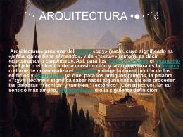 ARQUITECTURA - cerezitaDulce