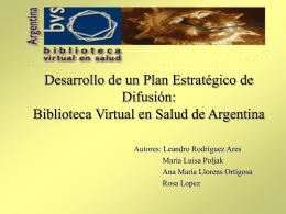 Presentación JABSA 2003 - Biblioteca virtual de salud de Argentina