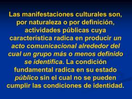 MANIFESTACIONES DE LA CULTURA (527872)