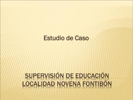 Supervisión de Educación localidad novena fontibón