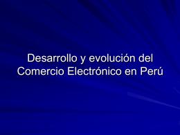 DESARROLLO DEL COMERCIO ELECTRONICO EN PERU SEACE