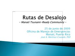 Rutas de Desalojo - Mayagüez Tsunami-Ready Community -