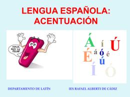 1. Lengua española Acentos