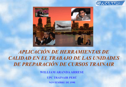 TRAINAIR International Course Developers Seminar Lima