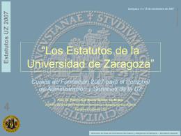 Presentación 4 - Universidad de Zaragoza