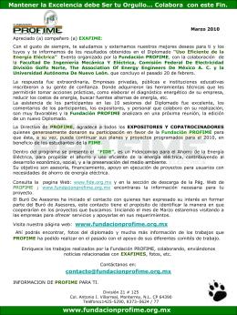 Marzo_2010 - Fundación PROFIME