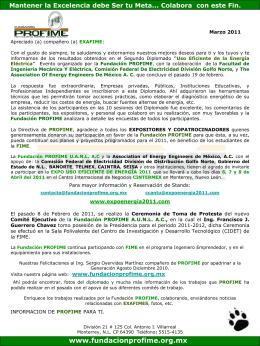 Información de Marzo 2011