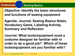 Chapter 33 Sewing Basics