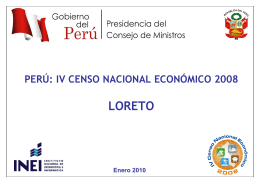 IV CENSO NACIONAL ECONÓMICO 2008 LORETO