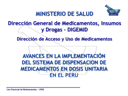 dispensación en dosis unitaria - Digemid