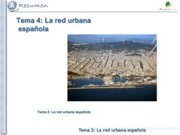 Tema 2: La red urbana española