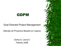 GDPM - Goal Directed Project Management (1)