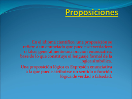 Proposiciones - educmatematica