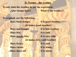 El Tiempo – the weather