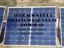 APLICACIÓN DE LA ENERGIA SOLAR EN LAS VIVIENDAS