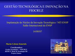 propriedade intelectual e transferência de tecnologia na fiocruz