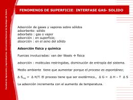 Adsorción física - Facultad de Agronomía y Agroindustrias
