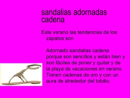 sandalias adornadas cadena
