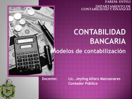 Modelos de contabilizacion - MSc. Jeyling Alfaro Manzanares