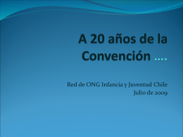 A 20 años de la Convención ….