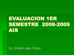 EVALUACION ANUAL AIS-sem 2008 09