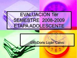EVALUACION SEMESTRE adolesente-2008