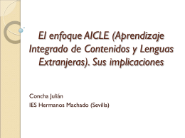 1.2.2 AICLE y sus implicaciones