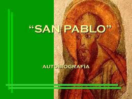 Autobiografía de Pablo