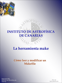 Makefile_EPaez - Instituto de Astrofísica de Canarias