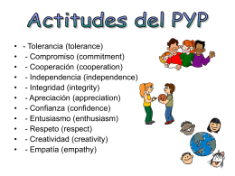 Actitudes del PYP