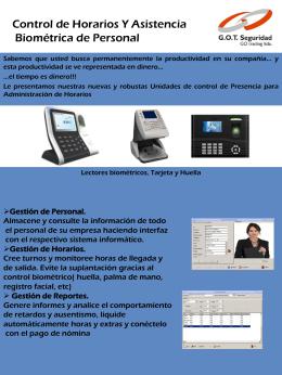 Control de Horarios Y Asistencia Biométrica de Personal